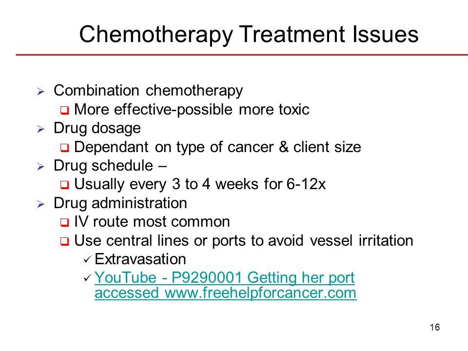 Chemotherapy Treatment Issues