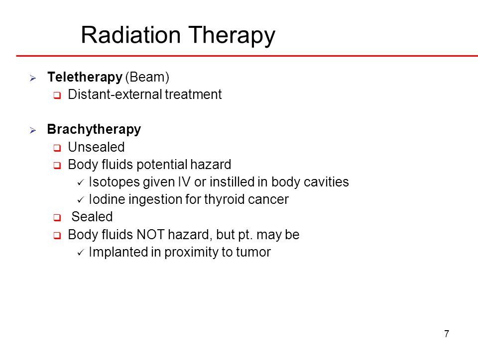 Radiation Therapy Teletherapy (Beam) Distant-external treatment