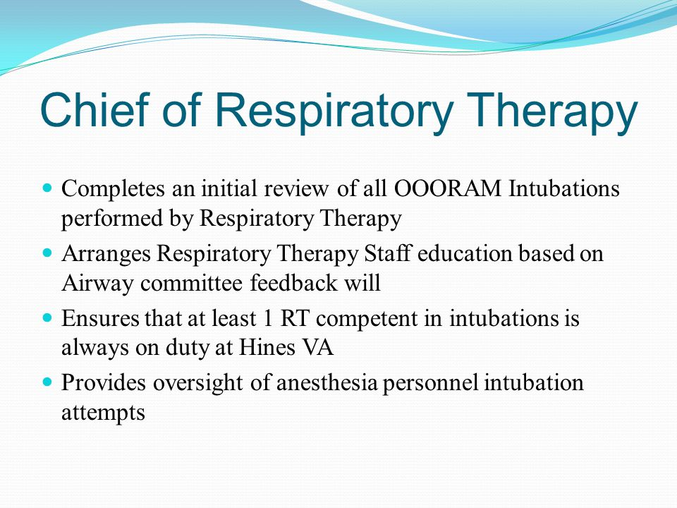 Chief of Respiratory Therapy