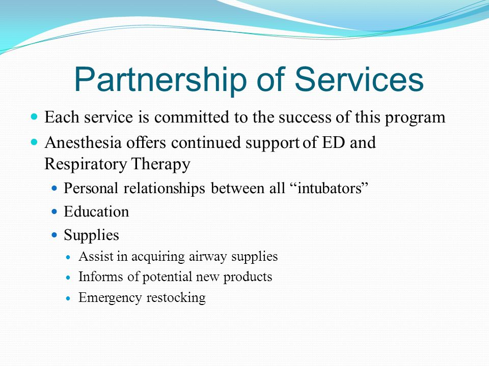 Partnership of Services
