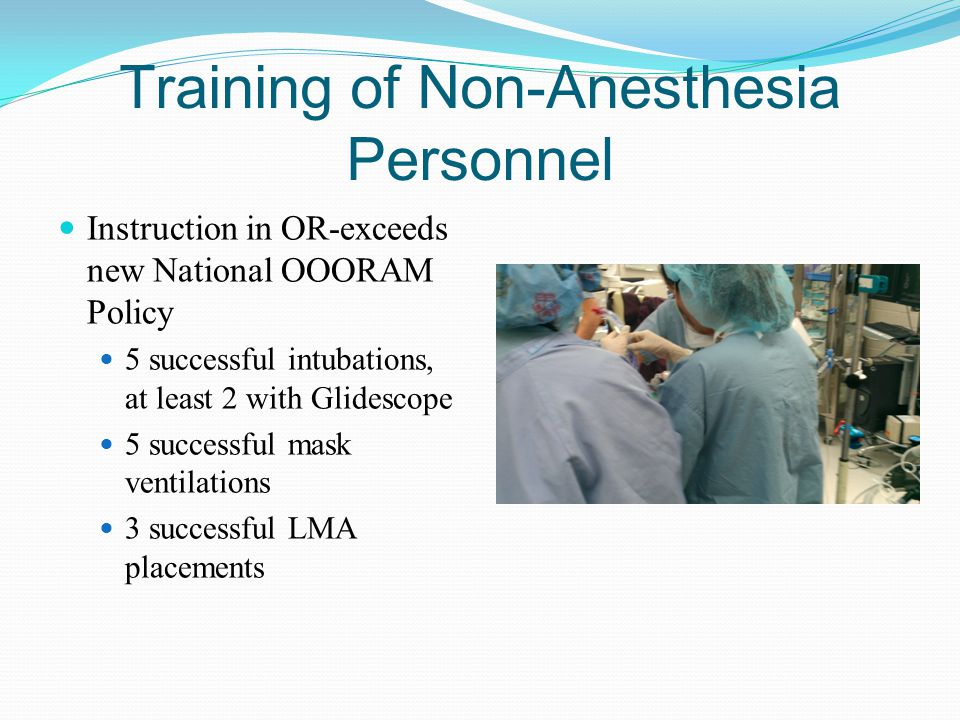 Training of Non-Anesthesia Personnel