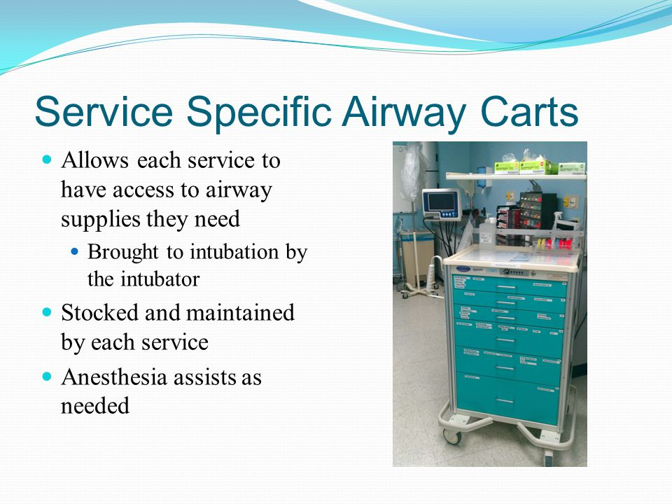 Service Specific Airway Carts