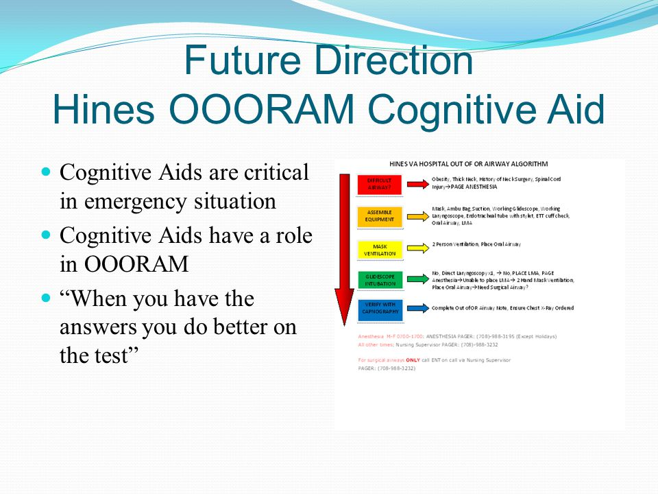 Future Direction Hines OOORAM Cognitive Aid
