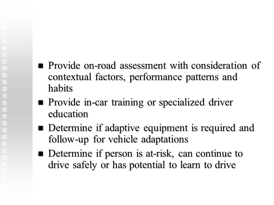 Provide in-car training or specialized driver education