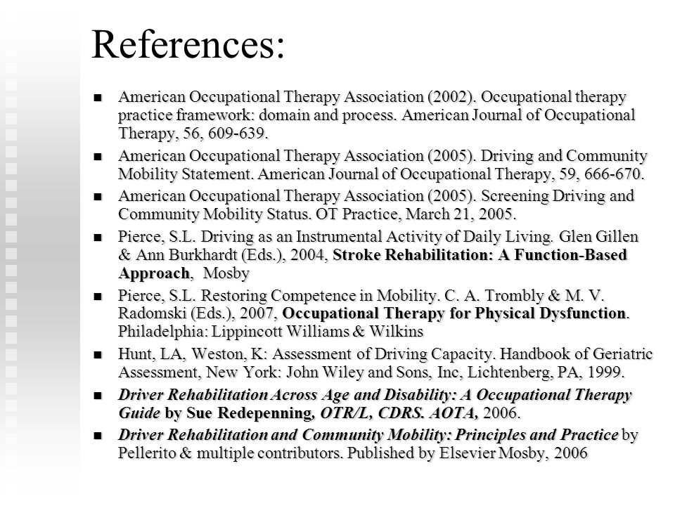 FLOTA Conference References: Febuary 8, 2009.