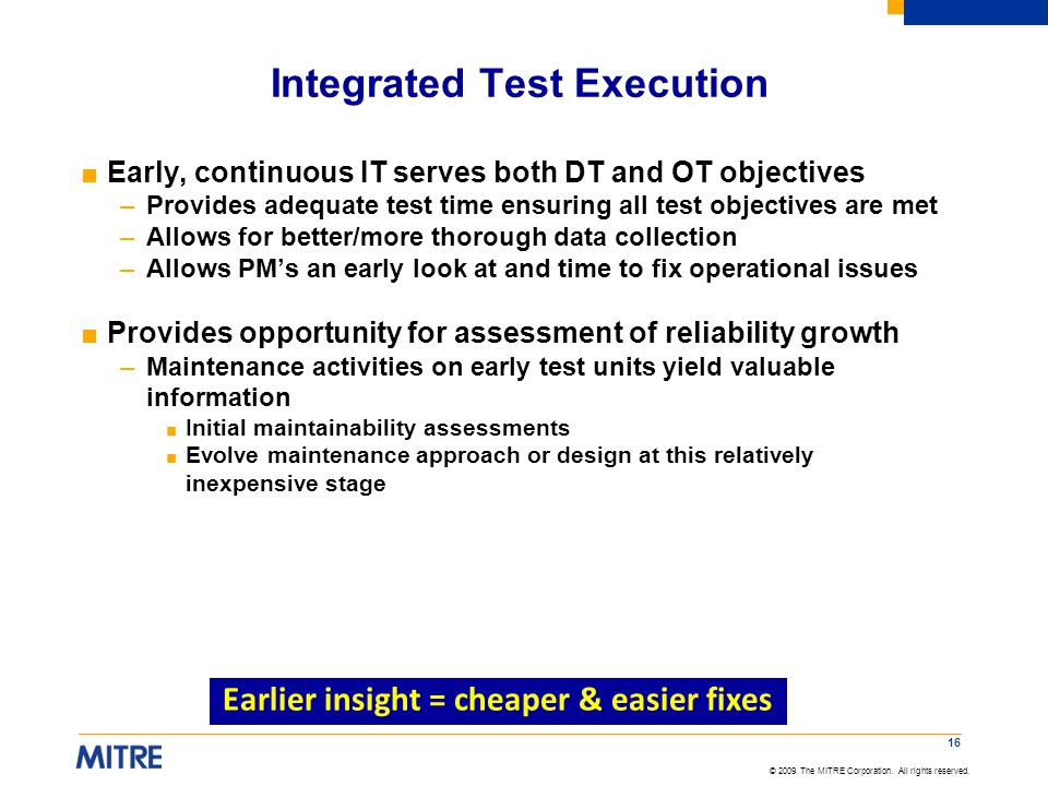 Integrated Test Execution