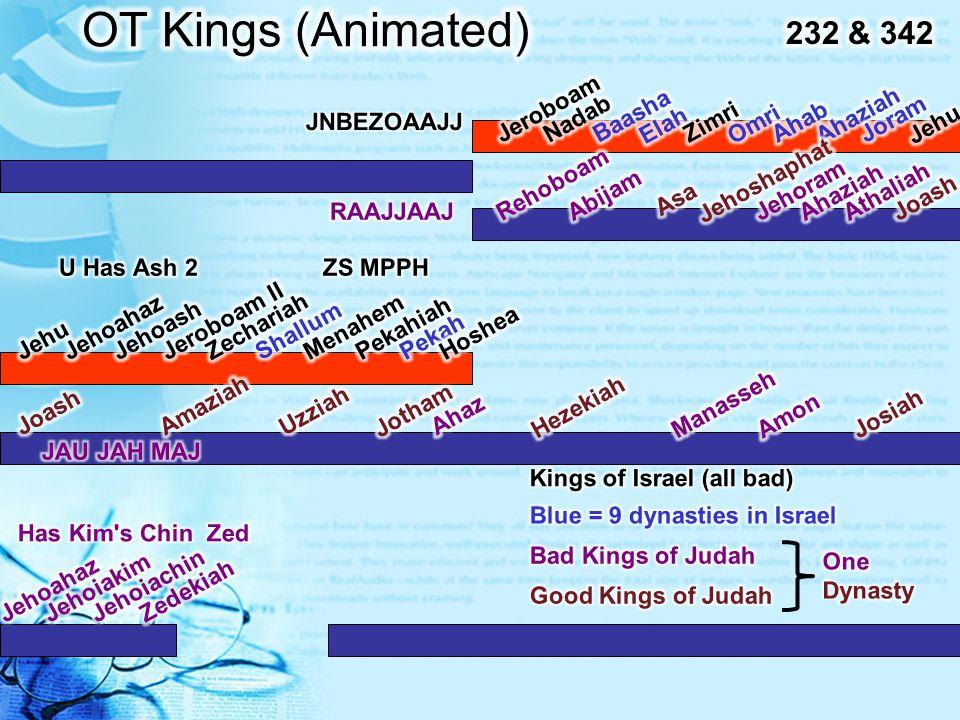 OT Kings (Animated) 232 & 342 Jeroboam Nadab Baasha Elah Zimri Omri