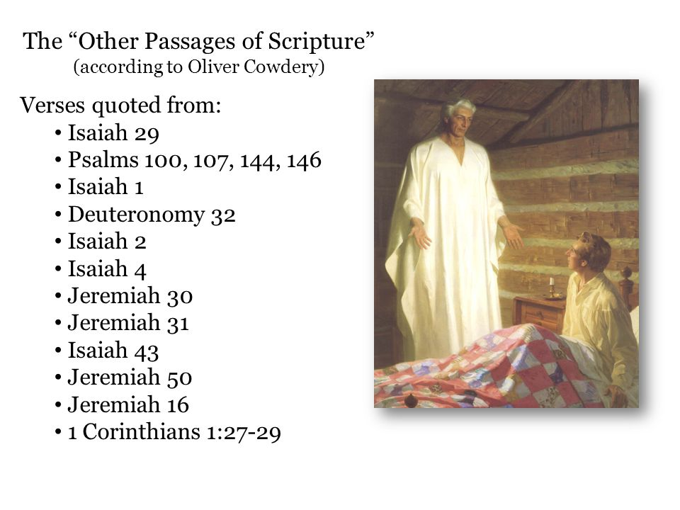 The Other Passages of Scripture