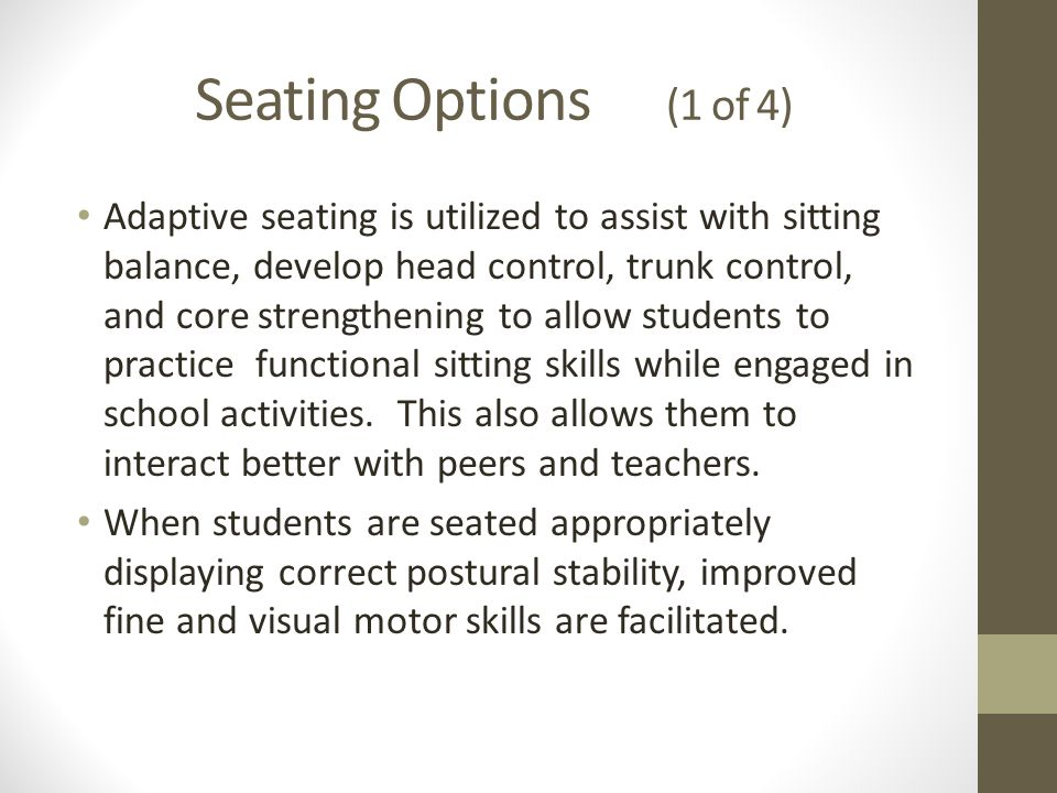 Seating Options (1 of 4)