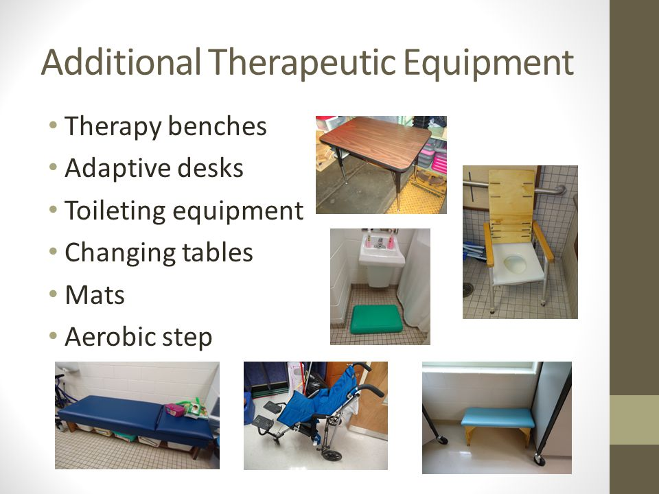 Additional Therapeutic Equipment