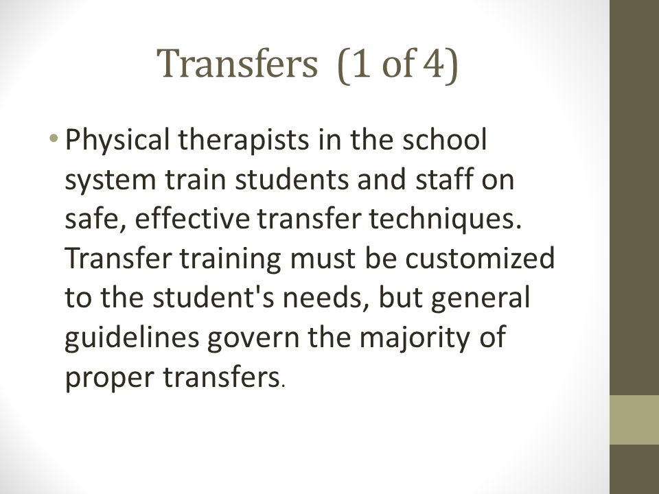 Transfers (1 of 4)