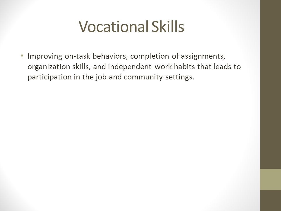 Vocational Skills