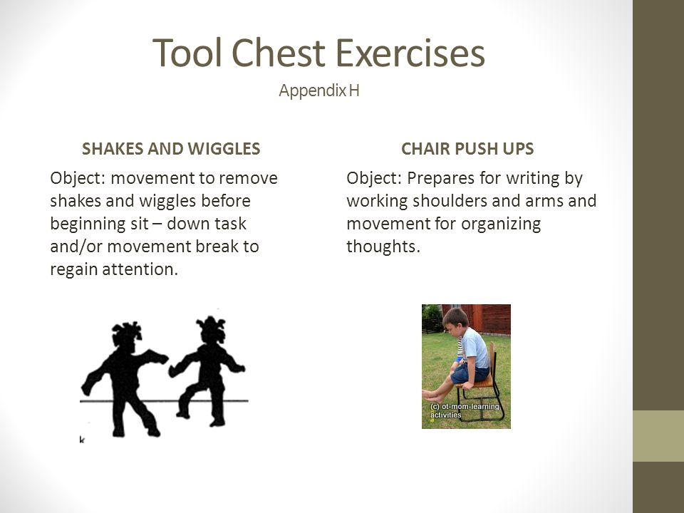 Tool Chest Exercises Appendix H
