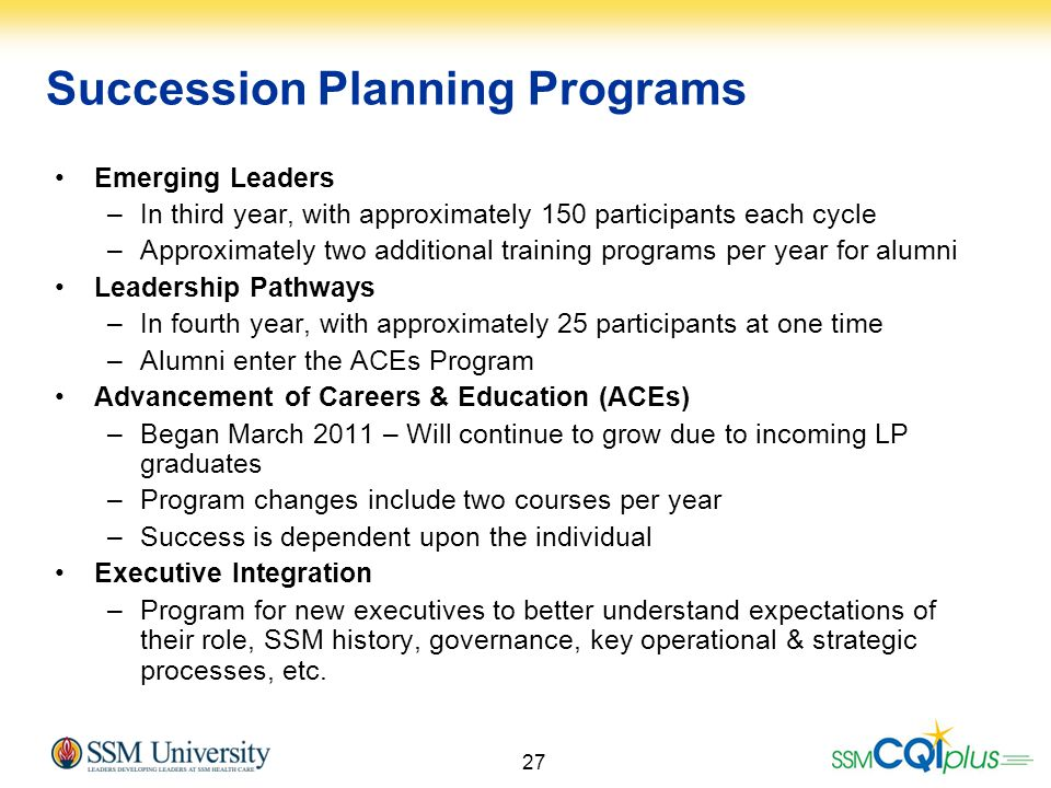 Succession Planning Programs