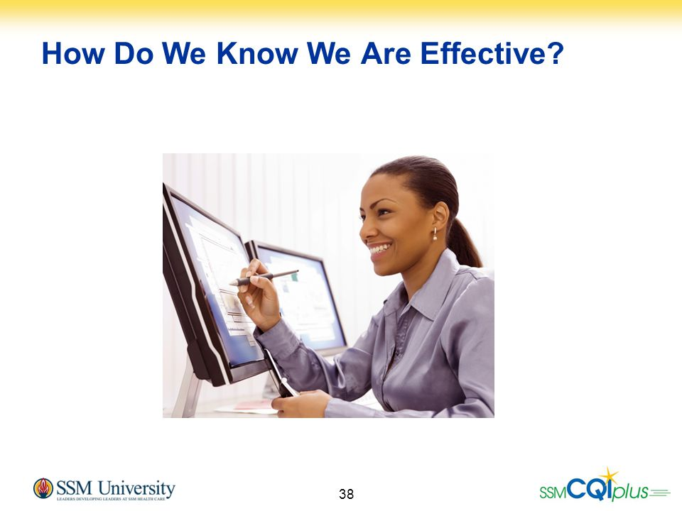 How Do We Know We Are Effective
