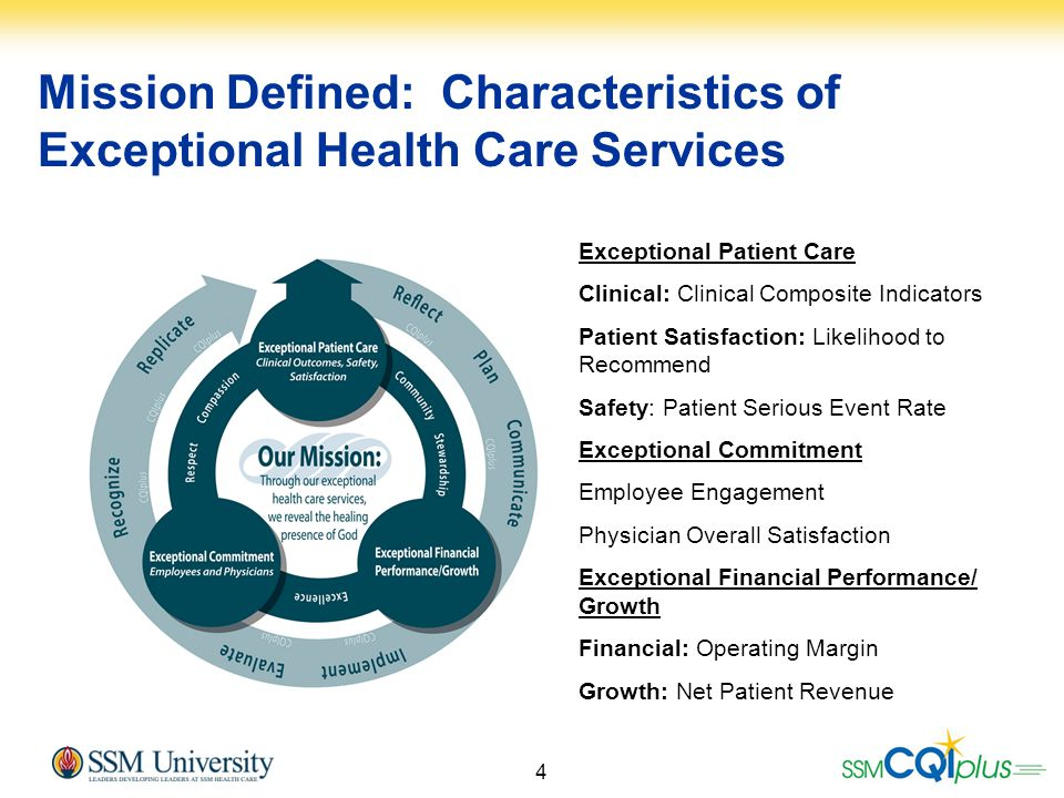 Mission Defined: Characteristics of Exceptional Health Care Services
