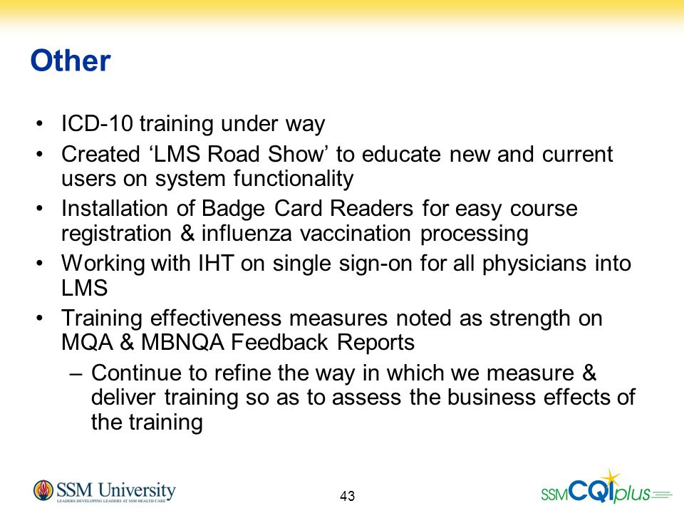 Other ICD-10 training under way