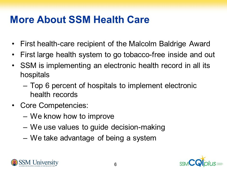 More About SSM Health Care