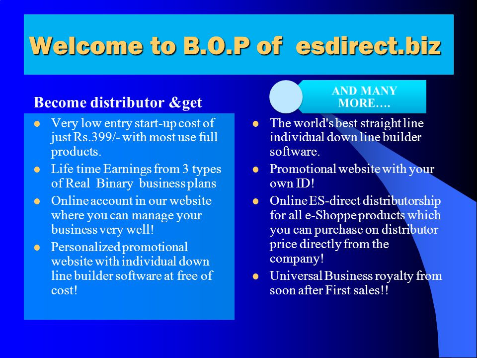 Welcome to B.O.P of esdirect.biz