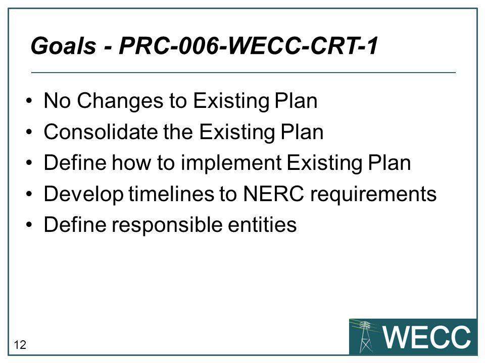 Goals - PRC-006-WECC-CRT-1