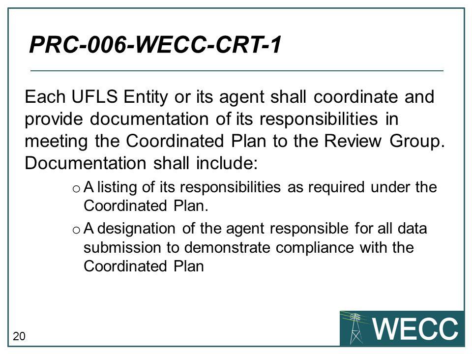 PRC-006-WECC-CRT-1