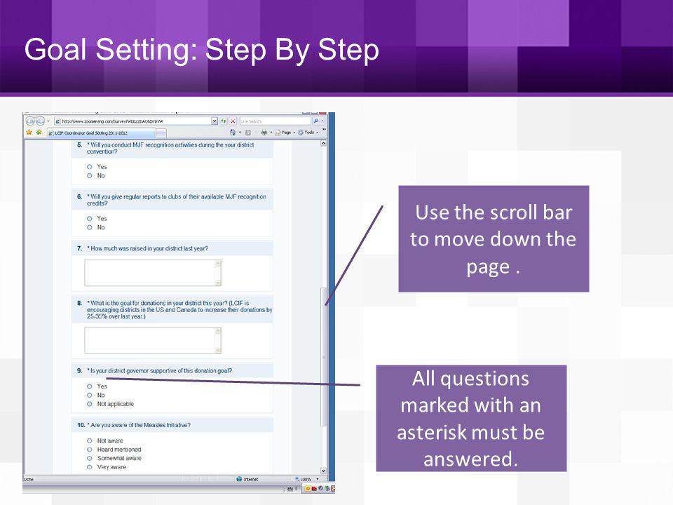 Goal Setting: Step By Step