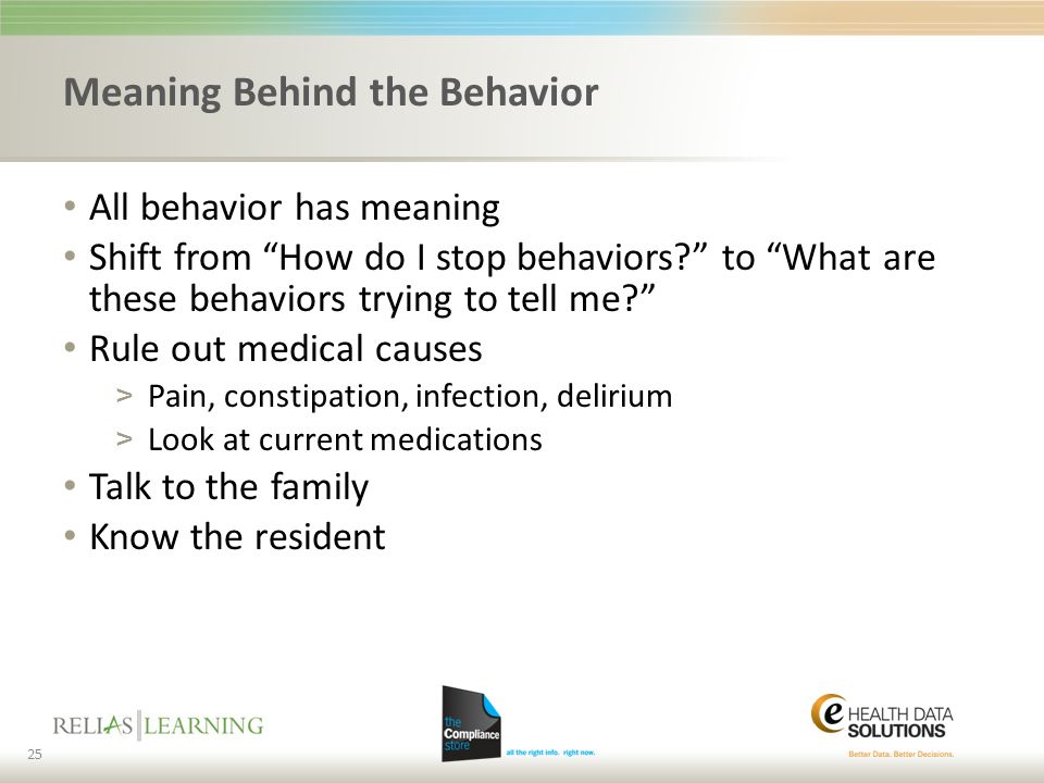 Meaning Behind the Behavior