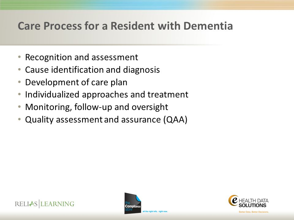 Care Process for a Resident with Dementia