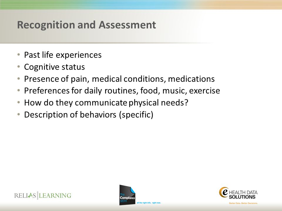 Recognition and Assessment