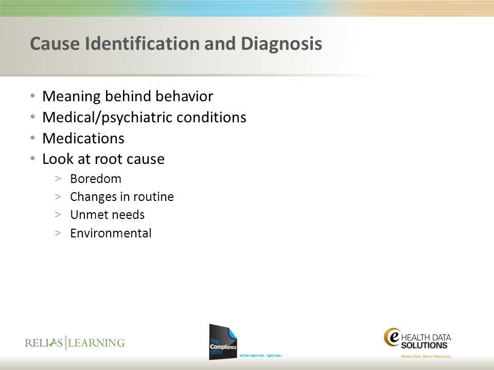 Cause Identification and Diagnosis