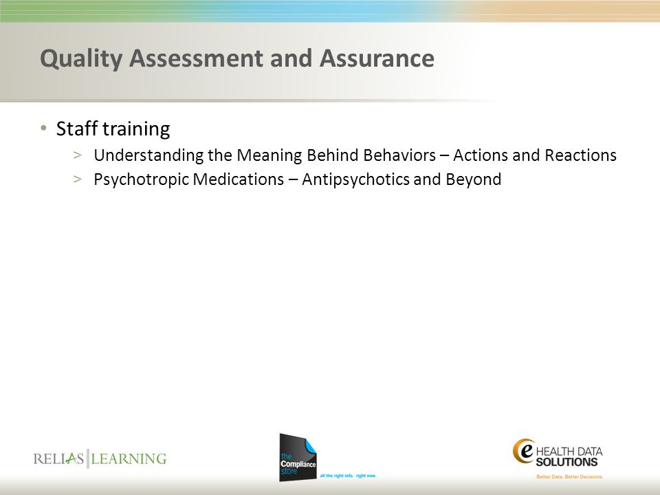 Quality Assessment and Assurance