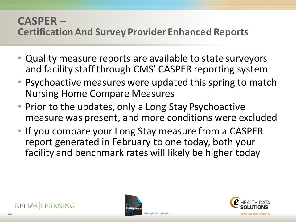 CASPER – Certification And Survey Provider Enhanced Reports