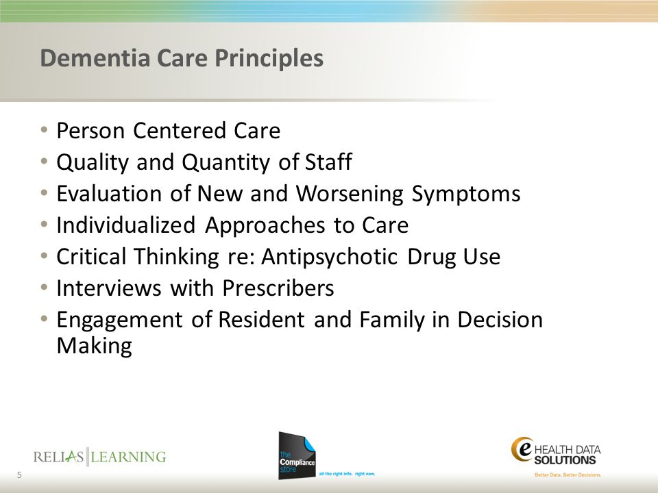 Dementia Care Principles