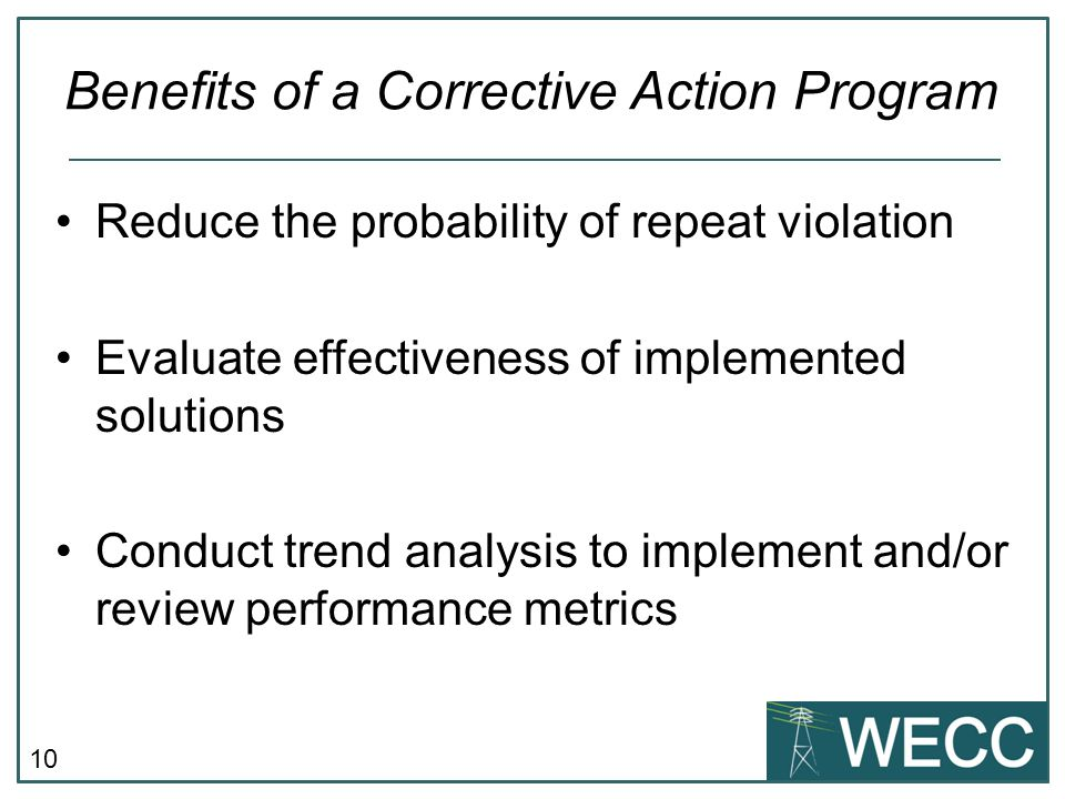 Benefits of a Corrective Action Program