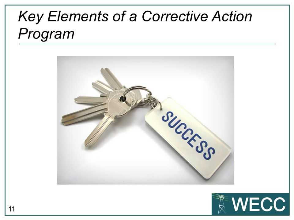 Key Elements of a Corrective Action Program