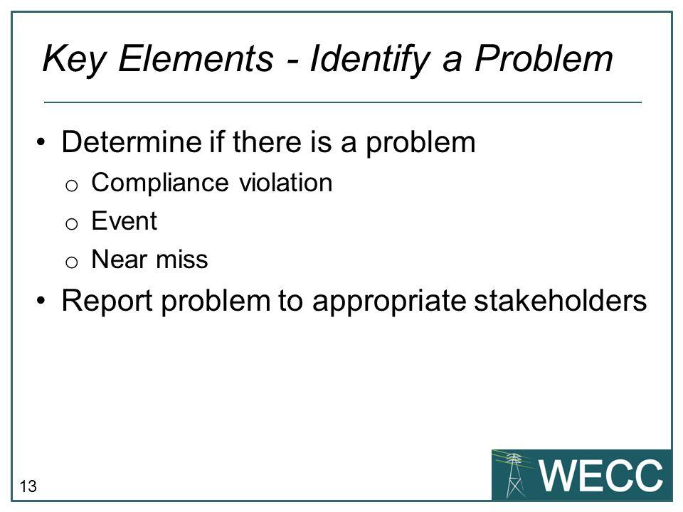Key Elements - Identify a Problem