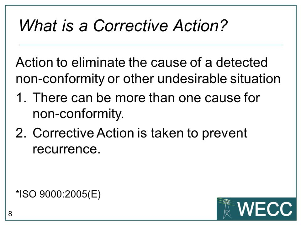 What is a Corrective Action