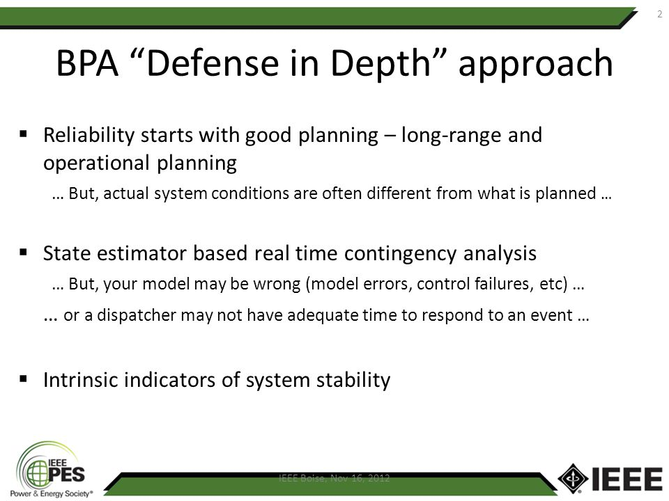 BPA Defense in Depth approach