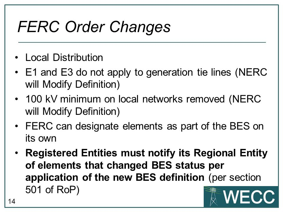 FERC Order Changes Local Distribution