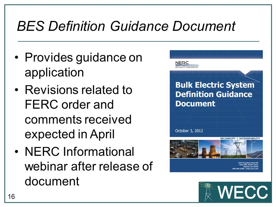 BES Definition Guidance Document