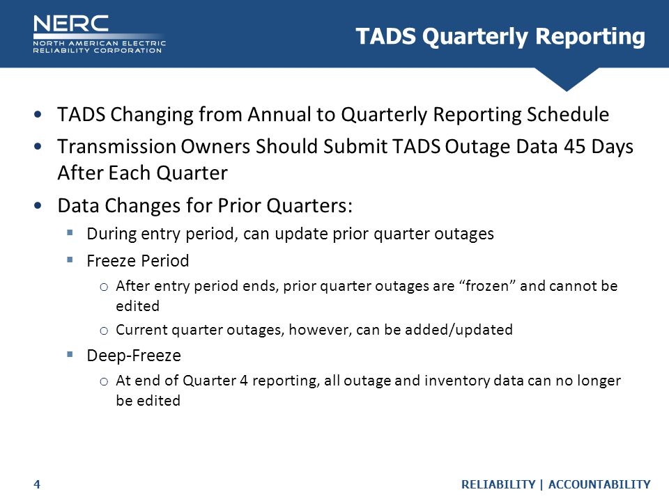 TADS Quarterly Reporting