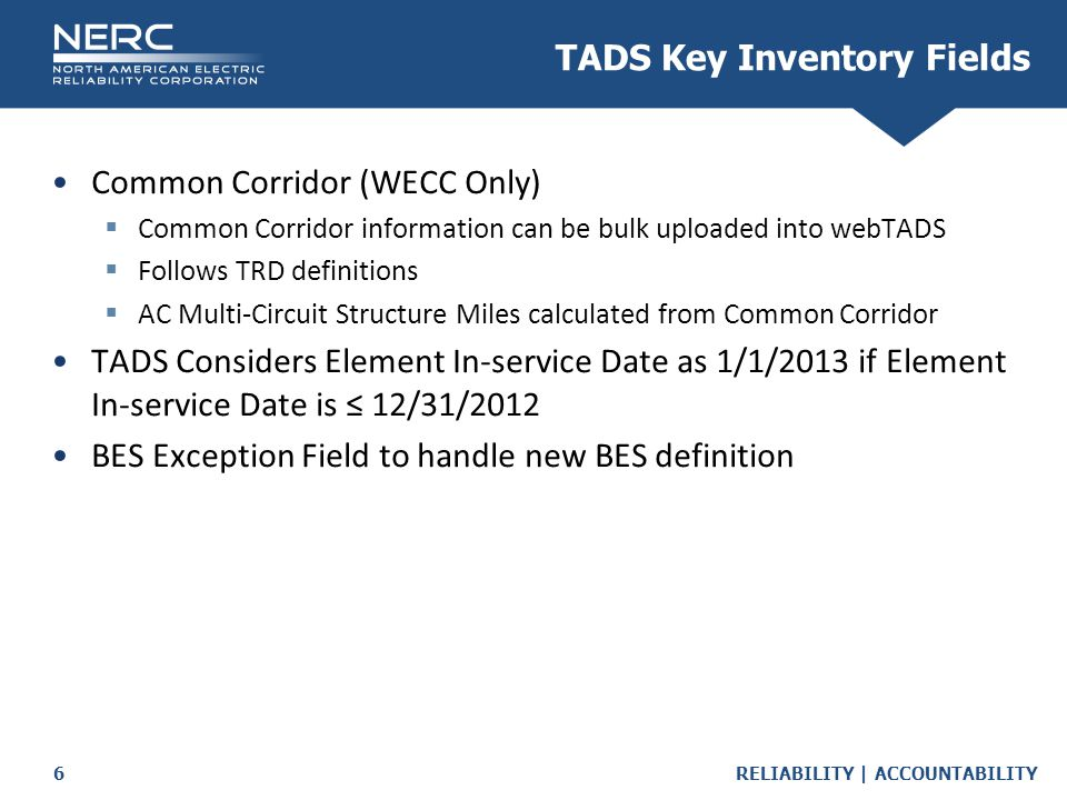 TADS Key Inventory Fields