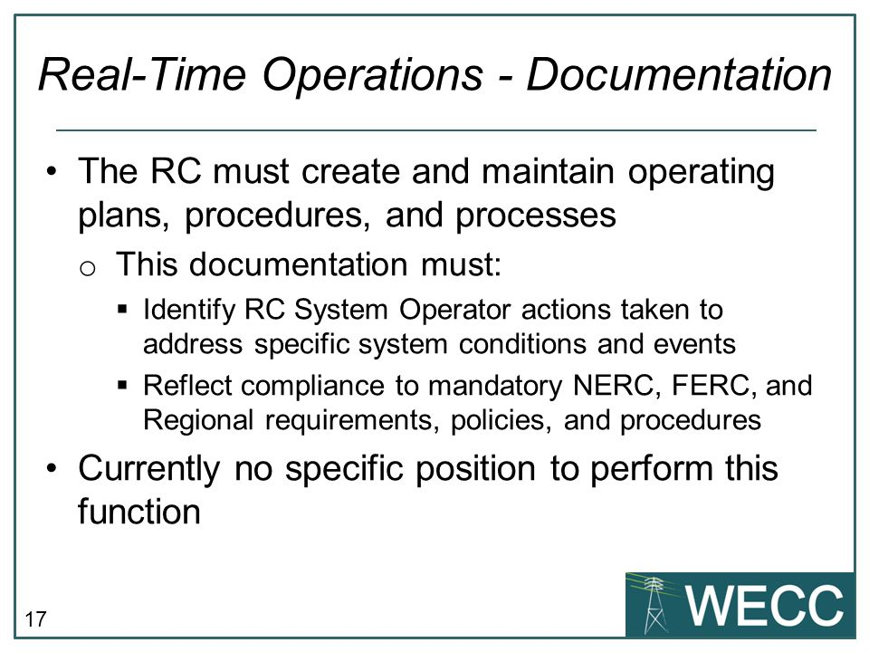 Real-Time Operations - Documentation
