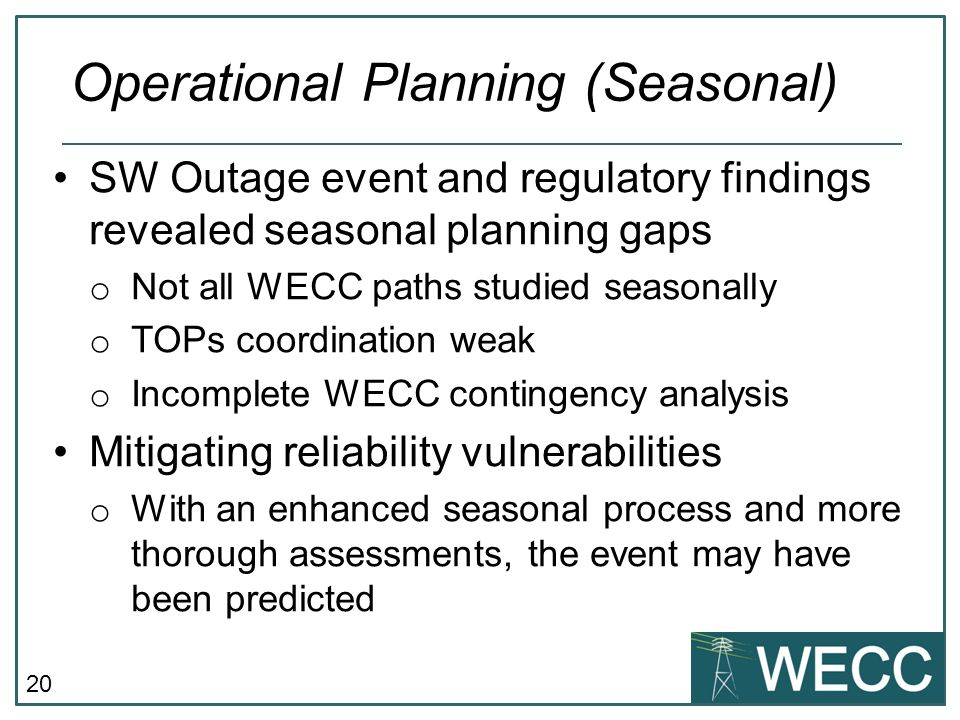 Operational Planning (Seasonal)