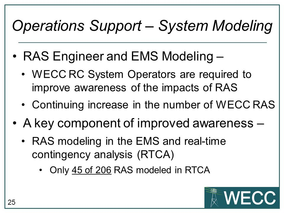 Operations Support – System Modeling