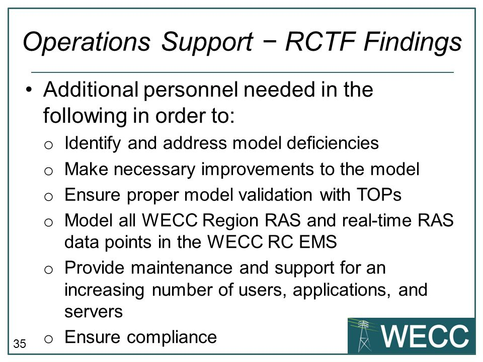 Operations Support − RCTF Findings