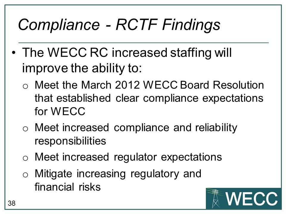 Compliance - RCTF Findings