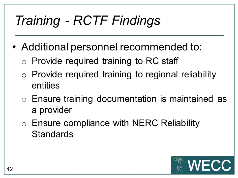 Training - RCTF Findings
