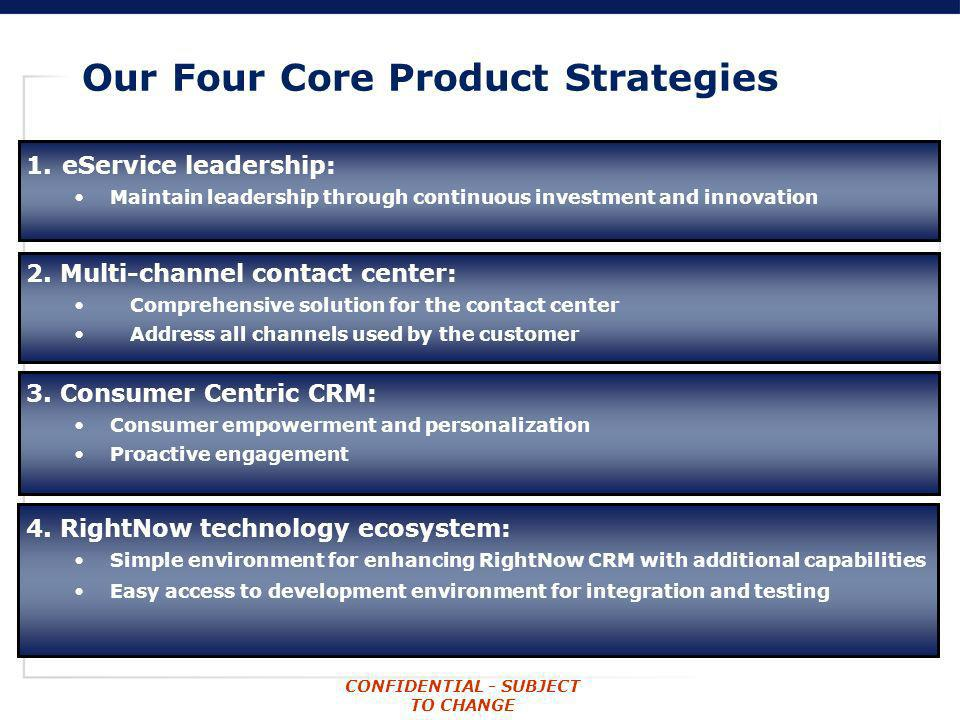 Our Four Core Product Strategies