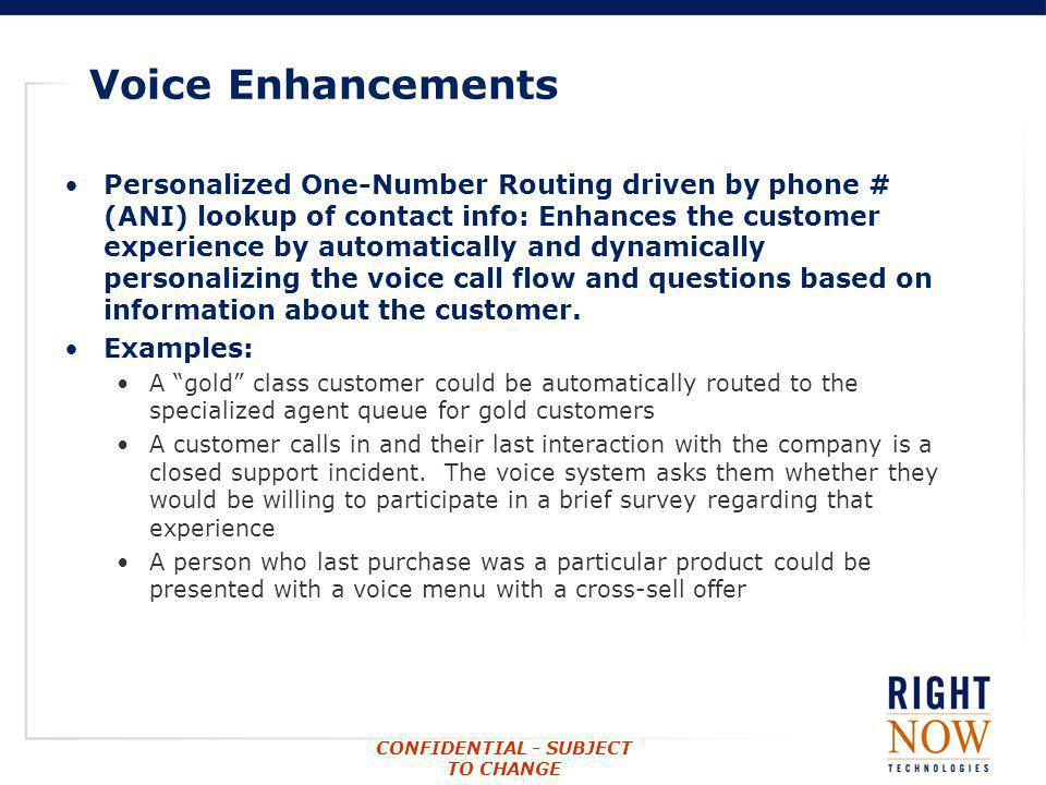 Voice Enhancements